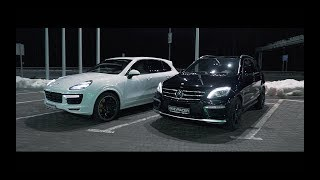 Cayenne Turbo S против ML63 AMG Stage2. Заруба, кто кого?