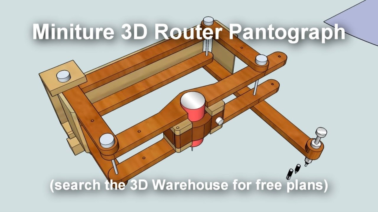 Miniature 3D Pantograph Router - YouTube