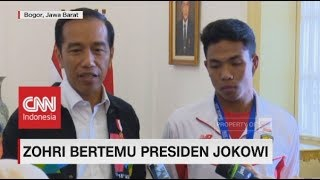 Video Bertemu di Istana, Presiden Jokowi Sebut Zohri 'Orang Besar' - Juara Dunia Junior Lari 100 Meter download MP3, 3GP, MP4, WEBM, AVI, FLV Juli 2018