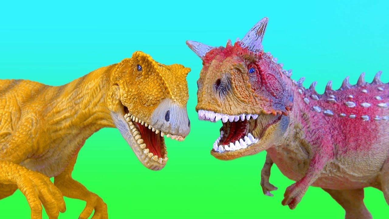 Dinosaur Fight ALLOSAURUS vs CARNOTAURUS Battle ไดโนเสาร์ ...