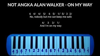 Download lagu Not Pianika Alan Walker - On My Way