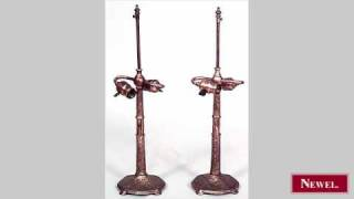 Antique Pair Of American Victorian Bronze Dore Table Lamps