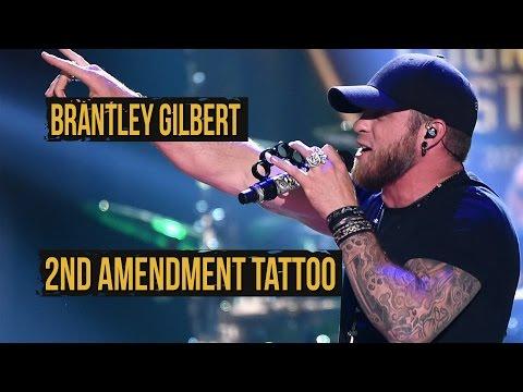 Brantley Gilbert's New Tattoo Recognizes 2nd Amendment