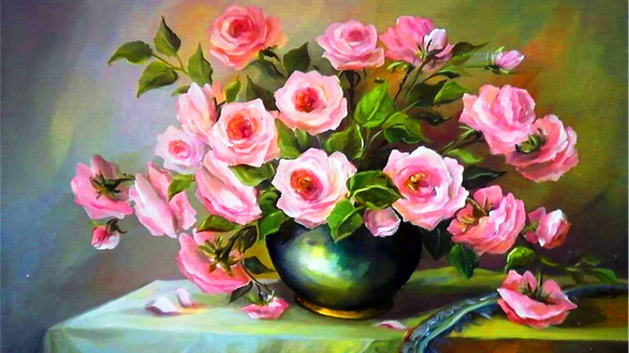Картина с цветами фото