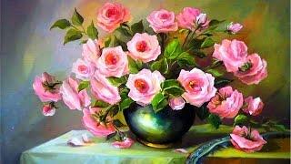 Como desenhar um vaso de flores em tons pastéis
