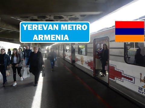 Yerevan Metro - Republic Square to David Sasunti - Armenia