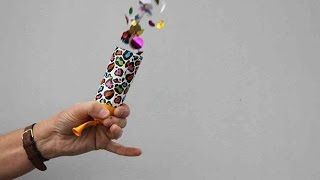 How to Make a Confetti Cannon from Recycled Materials | Sophie's World