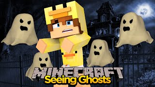 MINECRAFT - BABY DUCK VISITS A HAUNTED HOUSE!!!