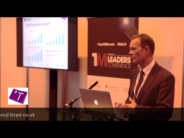 Ian Halliday's presentation to Manufacturers Annual Leaders Conference.