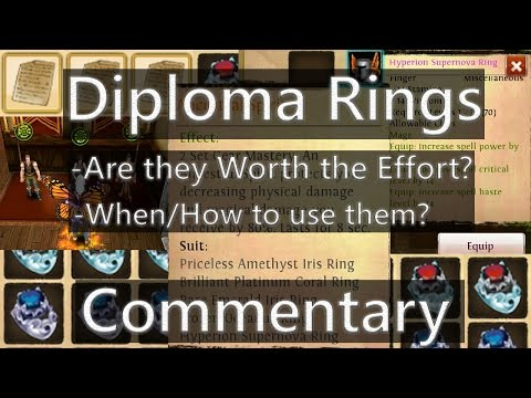 Order And Chaos Online Diploma Rings Commentary