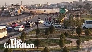 iranian-passenger-plane-lands-in-the-middle-of-a-city-street