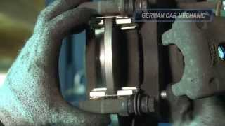 opel zafira a b how to rear brake replacement rotor and pads change