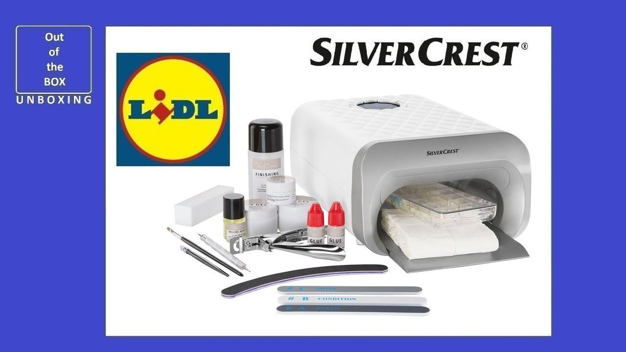 Lidl Salon Unboxing Silvercrest Nail Studio Set Sns 45 B4 Lidl 45w Uv A Lamp Type 3