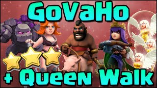 How to Archer Queen walk + GoVaHo 3 Star War Attack Strategy for TH9 - Clash of Clans