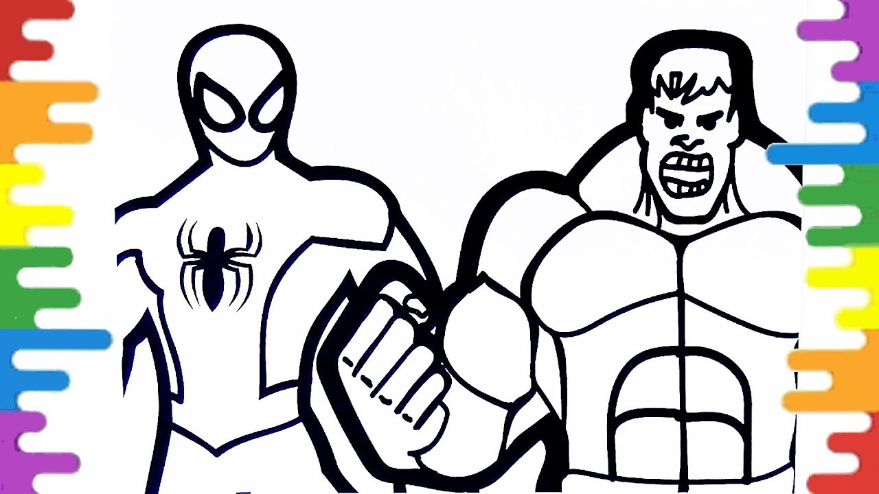 Spiderman Coloring Pages Hulk Coloring Pages How To Color