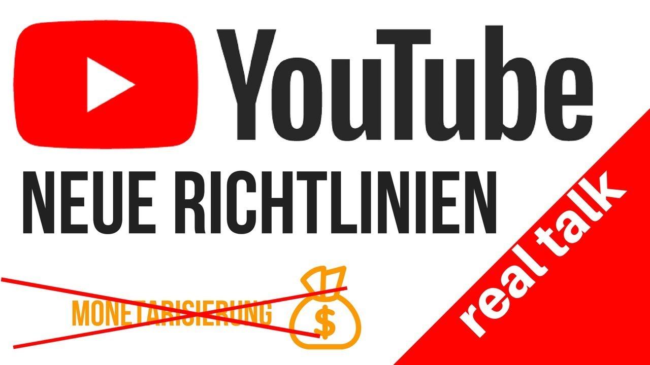 Youtube Richtlinien Neu