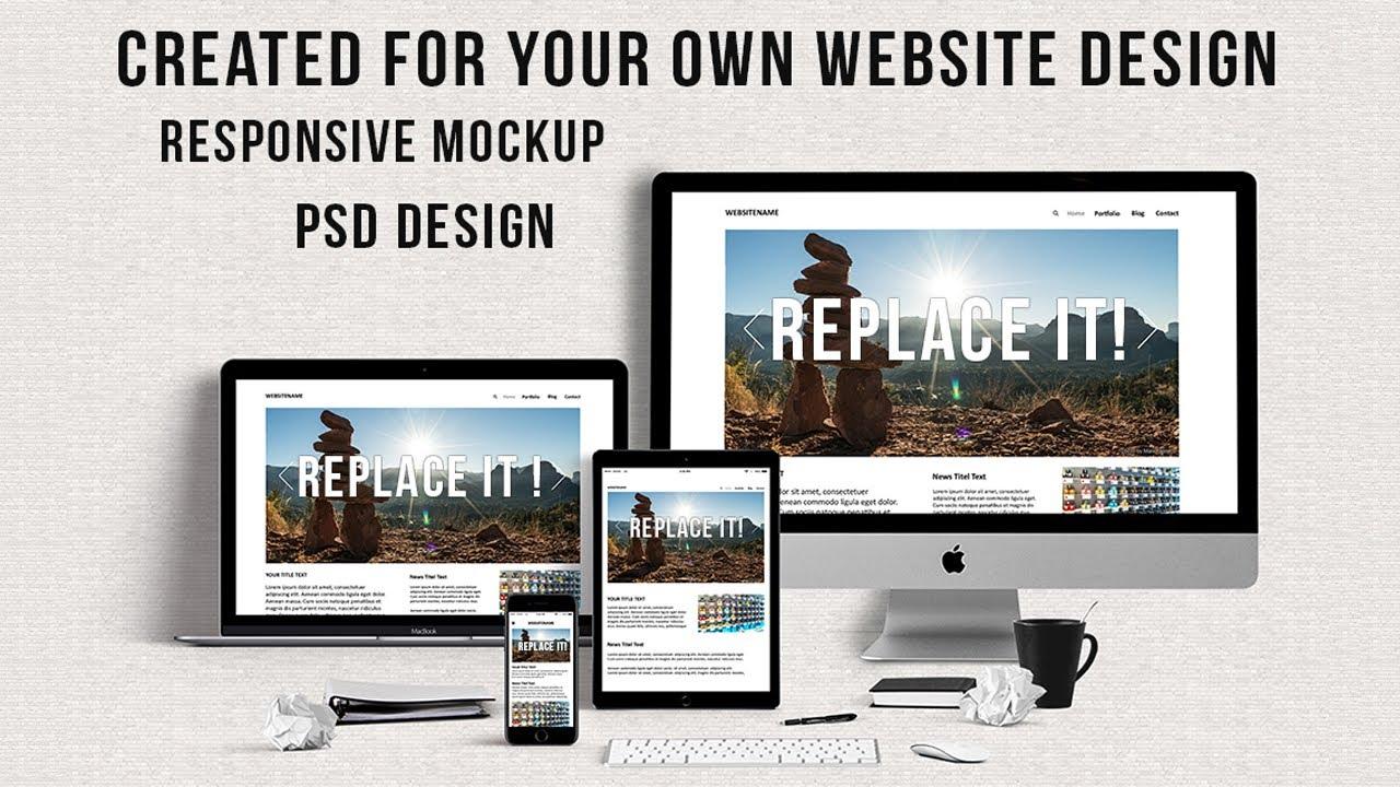 website mockup design template