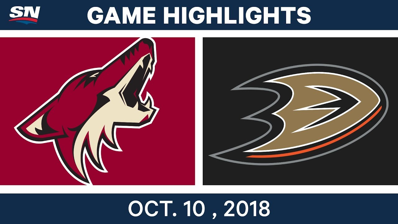 NHL Highlights | Coyotes vs. Ducks - Oct. 10, 2018