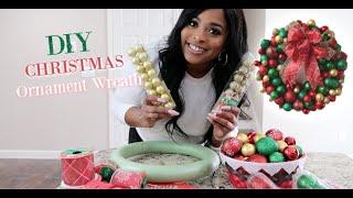 DIY Christmas Ornament Wreath   Dollar Store DIY