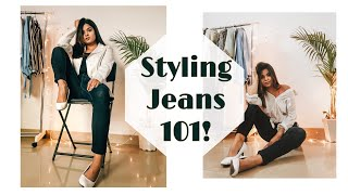 HOW TO STYLE A BASIC PAIR OF JEANS || #onepiecedifferentways