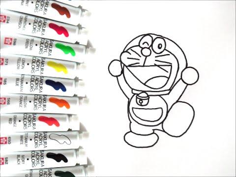 ドラえもんキャラクター 飛び跳ねてるドラえもんの描き方 How To Draw
