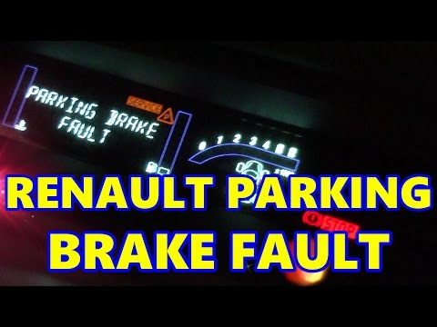Renault Scenic Electronic Parking Brake Fault, Handbrake, E-Brake