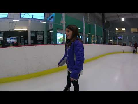 Sydney skating with Daddy at her 9th Birthday Party