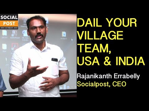 Rajanikanth Errabelly || TNRIs Interaction With Change-Leaders || Socialpost