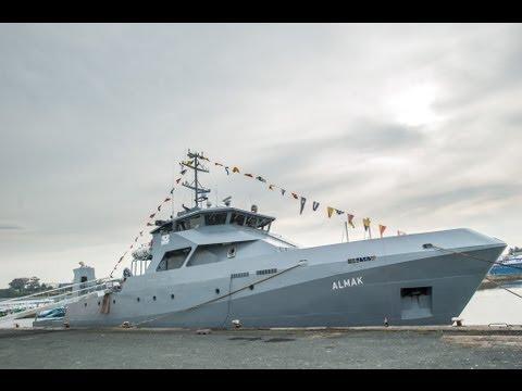 PIRIOU Shipyard & DCI launch the Almak Maritime Training Vessel, Concarneau, France, 27/09/2013