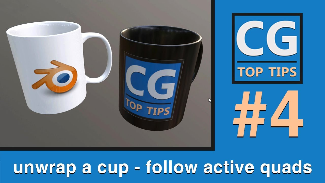 Unwrap a Cup [follow active quads] in Blender 2.8x