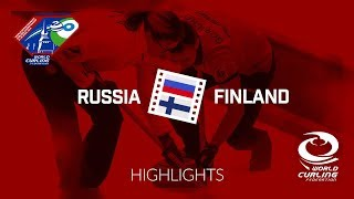 HIGHLIGHTS: Russia v Finland - World Mixed Doubles Curling Championship 2018