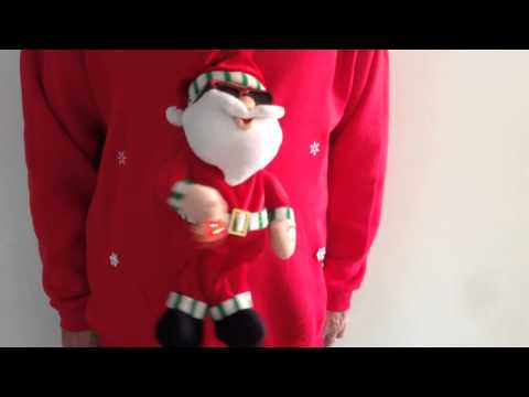Christmas Jumper sweaters Musical novelty sings macho man