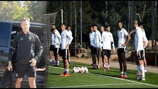 تداريب المنتخب المغربي استعدادا لمواجهة الأرجنتين بحضور جميع اللاعبين