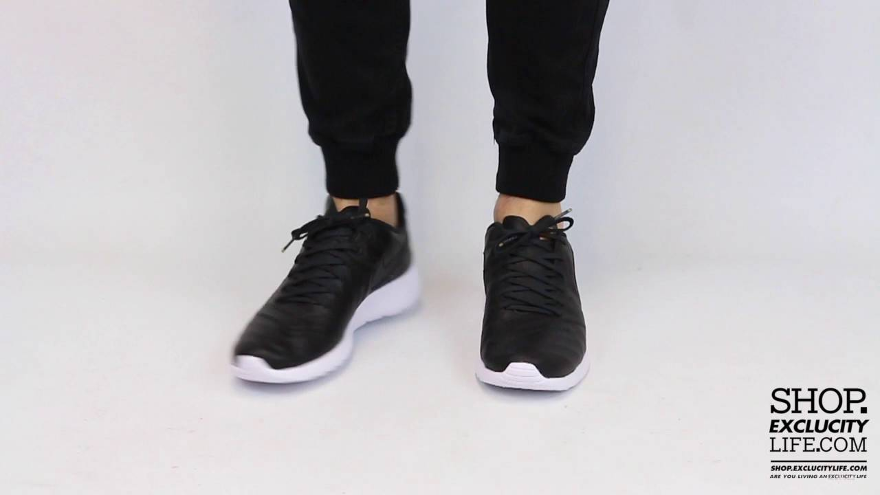 99fb12fb79d9 Roshe Tiempo VI QS Black White On feet Video at Exclucity - YouTube