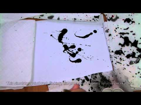 Interactive Physics-based Ink Splattering Art Creation