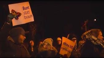 AfD gegen machtvolle Protestdemo in Rostock