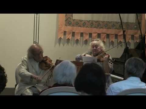 Ivry Gitlis & Dora Schwarzberg play Bartok Duos for 2 Violins (Part 1/2)