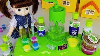 Baby doll Slime play and juice machine toys play - ToyMong TV 토이몽
