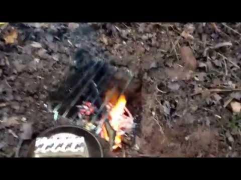 Wild solo winter camp