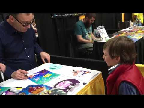 Meeting Tom Kenny AKA sponge bob