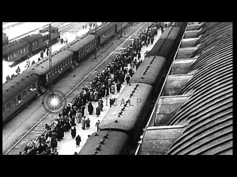 Red Army attacks Finland on Nov 30, 1939 by bombing Helsinki. The Winter War begi...HD Stock Footage