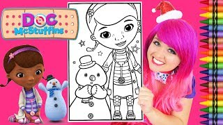 Coloring Doc McStuffins & Chilly Snowman GIANT Coloring Book Page Crayola Crayons | KiMMi THE CLOWN