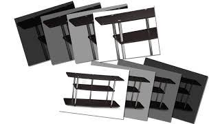 Convenience Concepts Designs2Go 3-Tier Wide TV Stand Dark Espresso