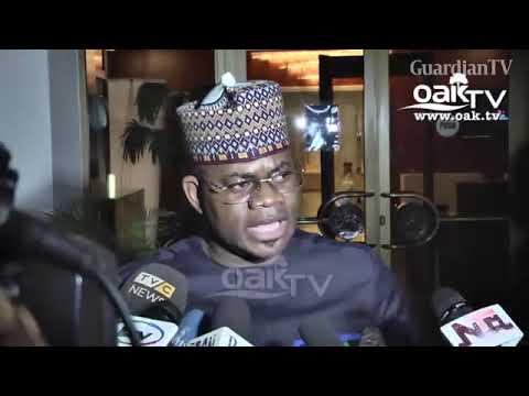 JUST IN: Kogi Governor, Yahaya Bello, Speaks On Senator Dino Melaye's Arrest (Watch Video)