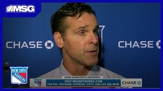 David Quinn: We Lost One Game | Rangers Post Game