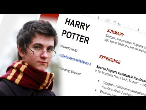 How to Write a Resumé (...Like a Wizard)!