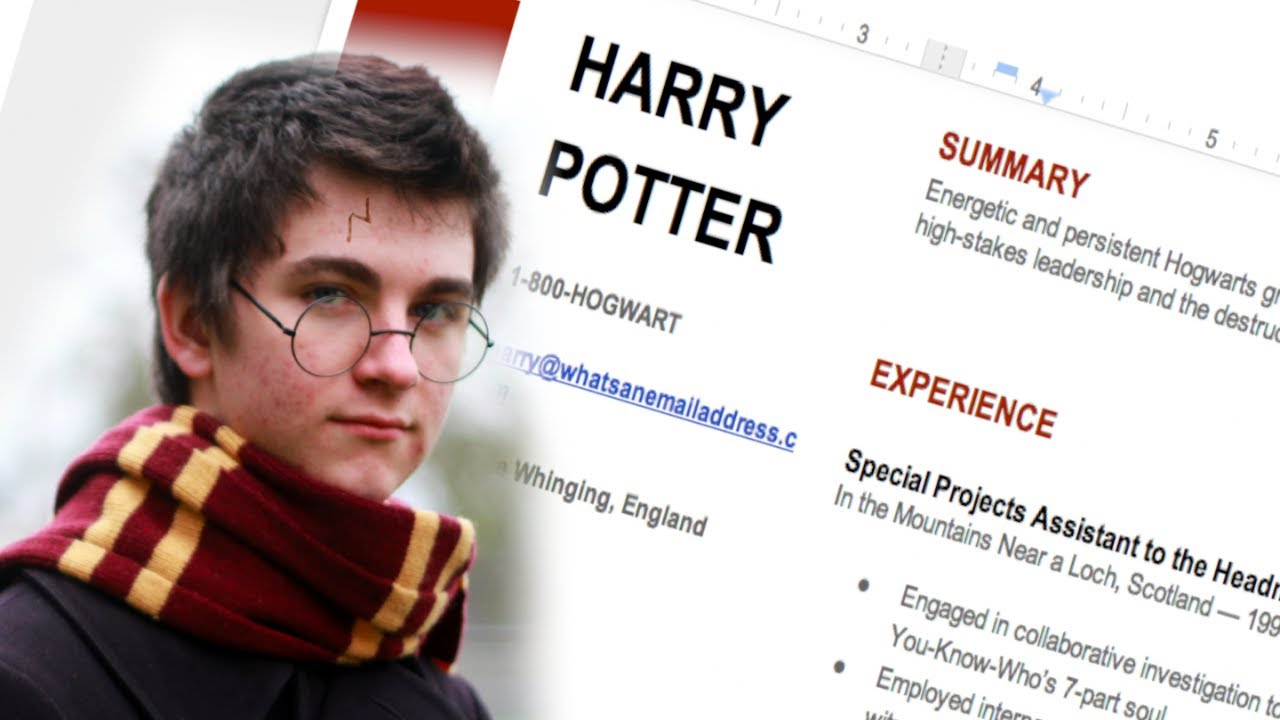 how to write a resume like a wizard