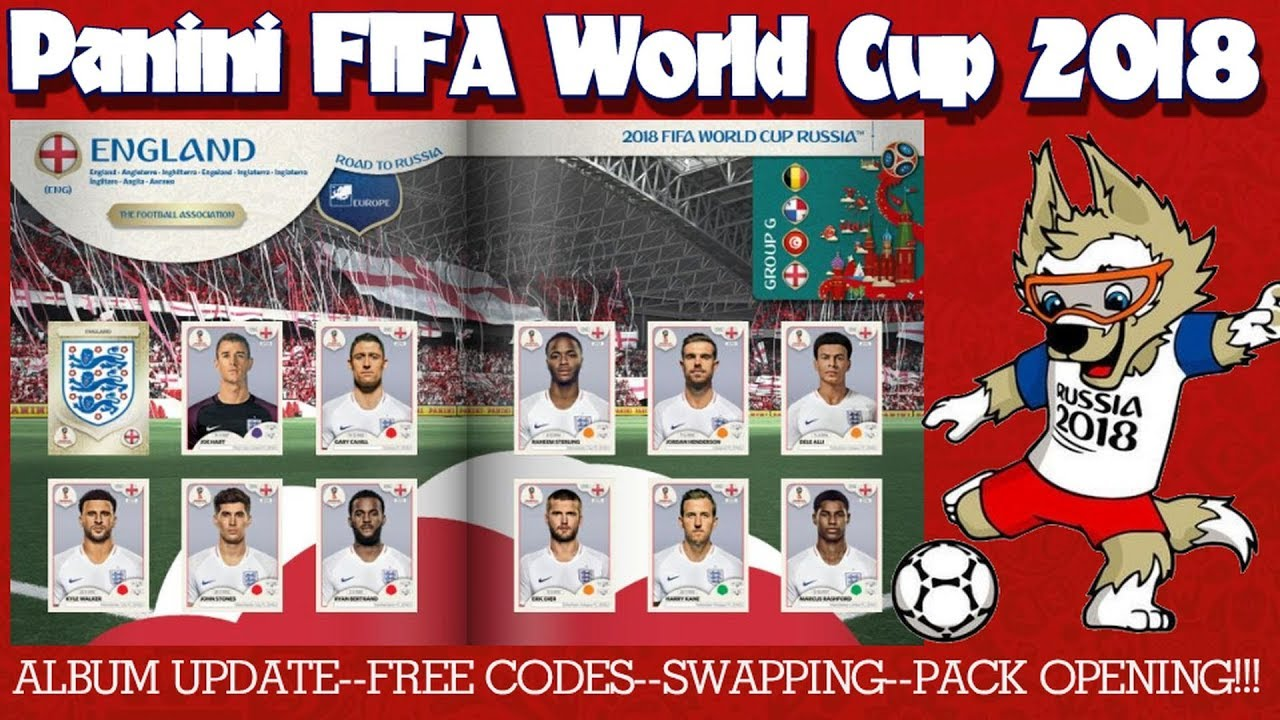 ⚽ NEW CODES - PACK OPENING - SWAPS !! | Panini FIFA WORLD CUP 2018 STICKER  ALBUM ⚽ VIRTUAL ONLINE!