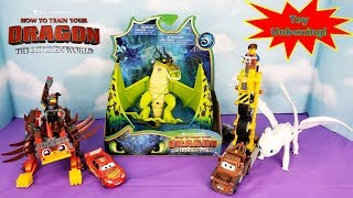 How To Train Your Dragon 3 Hidden World Monstrous Nightmare Toy Unboxing, Light Fury & UltraKatty