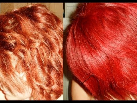 Cheveux crazy color fire